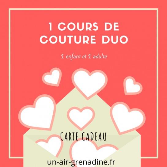 BON CADEAU  cours de couture duo