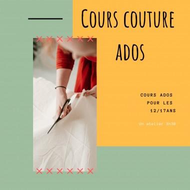 Cours de couture Ados